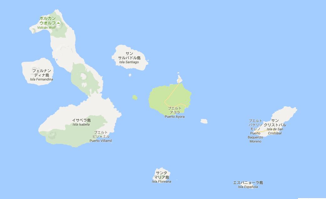 ガラパゴス諸島の地図
