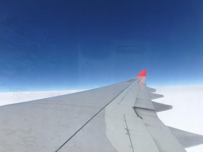日本 飛行機 景色