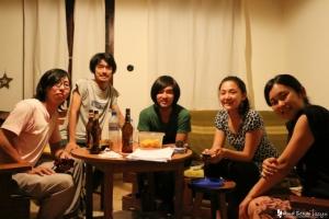 サユリさん宅で記念撮影